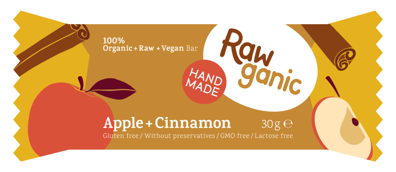 Rawganic vegan apple dessert bar
